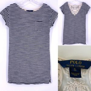 Polo Ralph Lauren Teen sz 16 Stripe T-Shirt Dress